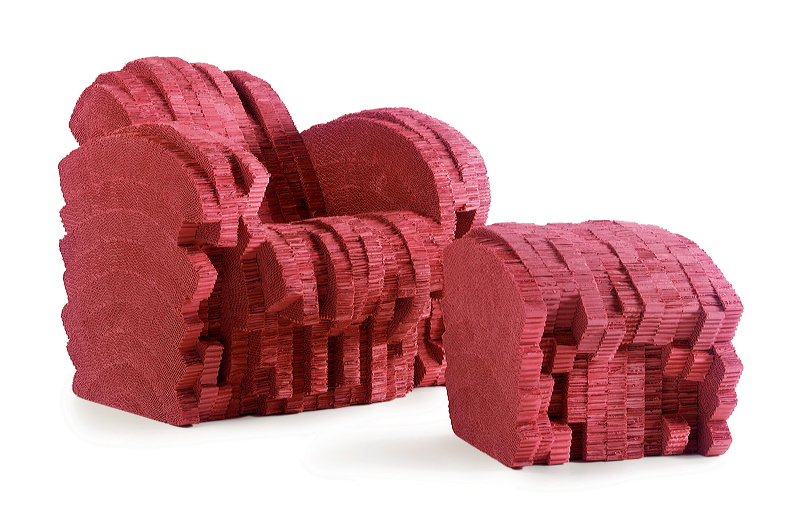 Red Beaver by Frank Gehry : Cardboard furniture through Vitra