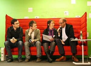 Nils Holger Moormann (re.) bei der Designers' Open 2008 in Leipzig
