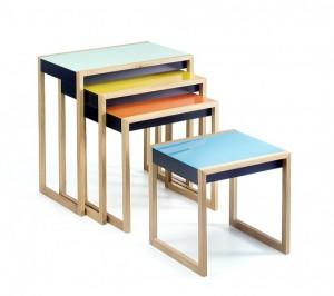 reeditierte Nesting Tables von Josef Albers