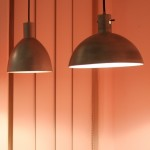 """Aluminiumlampen von Marianne Brandt (1926), gesehen bei der neuen """"Sammlung Bauhaus"""", Bauhaus Archiv Berlin"""
