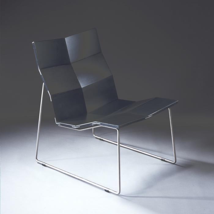 Ein ergonomischer Stuhl von Marcel Kabisch. Seine Diplomarbeit von 2002 an der Fachhochschule für Angewandte Kunst Schneeberg (Foto: Marcel Kabisch)