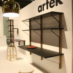Kaari shelf desk combo by Ronan & Erwan Bouroullec for Artek, as seen at Milan Furniture Fair 2015