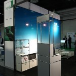 An immigration control trolley developed for Zurich Airport by USM Airportsystems at Passenger Terminal Expo 2016 Cologne