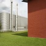 Vitra Fabrikgebäude von Nicholas Grimshaw und das Vitra Schaudepot von Herzog de Meuron