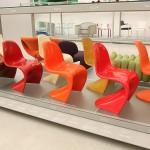.... und ihr dachtet, es gäbe nur einen Panton Chair...... Eine Kollektion verschiedener Ausführungen aus verschiedenen Produktionszeiträumen