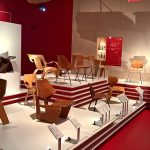 Plywood chairs, as seen at Plywood: Material of the Modern World, the  V&A Museum London