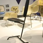 "Der 1948 ""Minimum Chair"" von Charles & Ray Eames, gesehen bei ""Charles & Ray Eames. The Power of Design"", Vitra Design Museum"