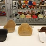 "Glasfaser-Sitzschalen, gesehen bei ""Kazam!"", the Vitra Design Museum Schaudepot"