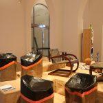 Free Range Stool von El Ultimo Grito, gesehen bei Pure Gold. Upcycled! Upgraded!, Museum für Kunst Gewerbe Hamburg