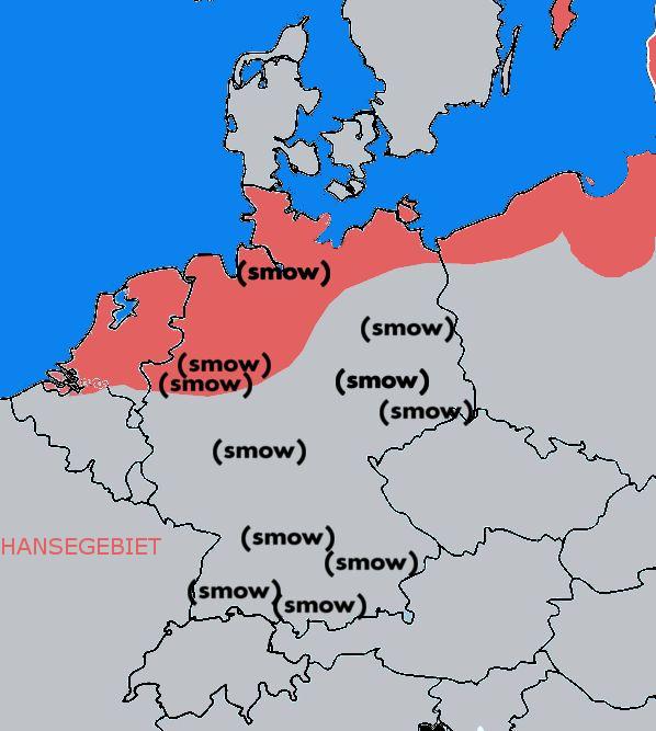 Ein Vergleich der geographischen Verteilungen der Hanse und von smow (Stand März 2018)