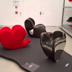 Three variations on a theme Soft Heart, Big Heart & Size 10, as seen at Ron Arad. Yes to the Uncommon!, the Vitra Design Museum Schaudepot