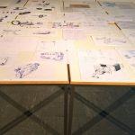 Resultate des Kurses Enfach Zeichnen, gesehen bei Rundgang 2018, Hochschule für Gestaltung Offenbach