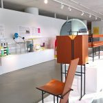 Chair and cabinet by Kersti Sandin and Lars Bülow, as seen at 1980s - A new era in furniture design, The Museum of Furniture Studies, Stockholm