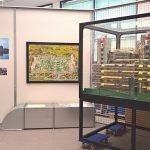 Pläne, Fotos und ein Modell des Aachener Universitätsklinikums, gesehen bei Die Neue Heimat (1950 - 1982) Eine sozialdemokratische Utopie und ihre Bauten, Architekturmuseum der TU München
