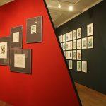 """Grafik Kabinett Cabinet und """"2nd Bauhaus New European Graphics monograph"""" von Martin Furtwängler (r), gesehen bei """"Bauhaus_Sachsen"""", Grassi Museum für Angewandte Kunst Leipzig"""