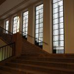 Albers fenster im Treppenaufgang des Grassi Museum Leipzig.....