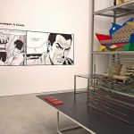 Ein Manga Chair von Nendo, gesehen bei Living in a Box. Design and Comics, Vitra Design Museum Schaudepot