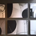"Fotos der Hauben des Dampfers Conte Biancamano von Le Corbusier, gesehen bei ""Mon univers"", Pavillon Le Corbusier, Zürich."