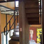 Das zentrale Treppenhaus im Pavillon Le Corbusier, Zürich