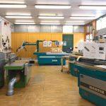 Werkstatt, gesehen bei Schulen für Holz und Gestaltung Garmisch-Partenkirchen 2019 Sommerausstellung.