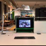 USM Haller desk with integrated monitor, as seen at USM Haller HomeWork, smow Köln