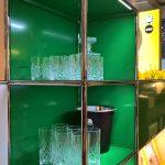Illuminated Haller E glass cabinet, as seen at USM Haller HomeWork, smow Köln