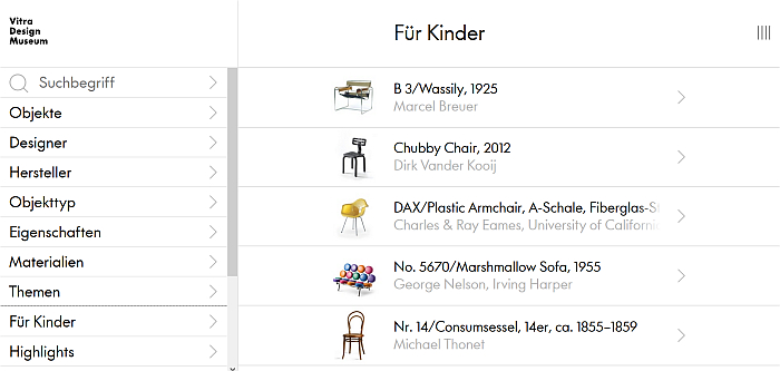 Vitra Design Museum - Collection Online