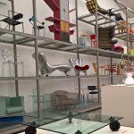 """Tavolo con ruote von Gae Aulenti für Fontana Arte, gesehen bei """"Gae Aulenti. Ein kreatives Universum"""", Vitra Design Museum Schaudepot"""