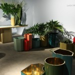 Design Basel 2013: Carwan Gallery, Landscape Series by India Mahdavi. The Gold Vases