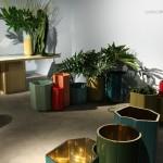 Design Basel 2013: Carwan Gallery, Landscape Series von India Mahdavi. Die Gold Vases