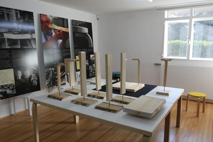 IMM Cologne 2013 Hocker 60 von Alvar Aalto im Ungers Archiv für Architekturwissenschaft