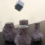 Object Limited Edition Design at MIART Milan 2013 Julian F Bond Hexagonal Pixel Vases
