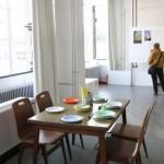 """selbst hergestellte Möbel auf der Ausstellung """"Kibbuz und Bauhaus"""""""