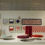 Colour Wheel Ottoman von Alexander Girard über Vitra, gesehen auf der Möbelmesse Mailand 2014