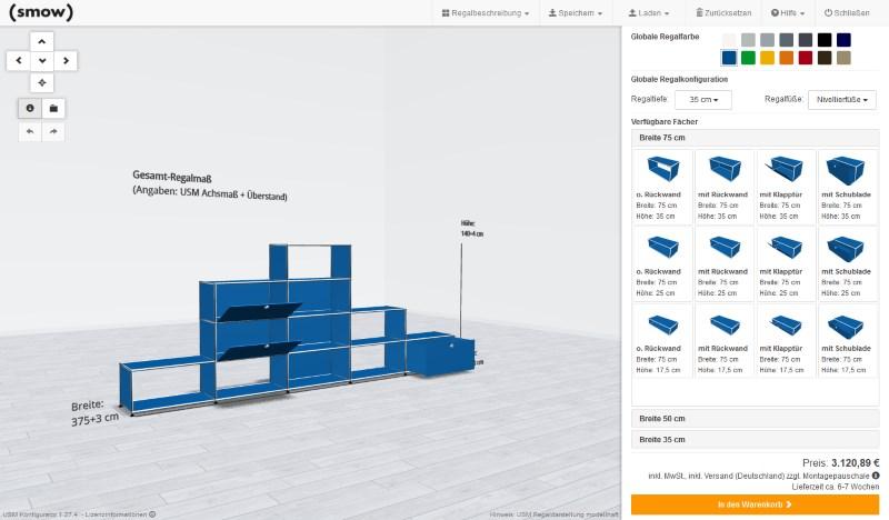 usm haller konfigurator designerm bel von. Black Bedroom Furniture Sets. Home Design Ideas