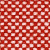 Hopsak poppy red/elfenbein