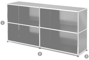 usm haller sideboard l offen von fritz haller paul. Black Bedroom Furniture Sets. Home Design Ideas