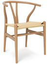 CH24 Wishbone Chair, Buche geölt, Geflecht natur