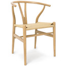 CH24 Wishbone Chair, Eiche geölt, Geflecht natur