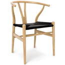 CH24 Wishbone Chair, Eiche geölt, Geflecht schwarz