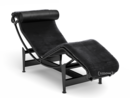 LC4 Chaiselongue, Noir, Fell uni schwarz