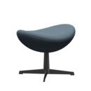 Egg Footstool, Re-wool, 768 - Natural / light blue, Black