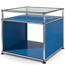 USM Haller Beistelltisch mit Aufsatz, Enzianblau RAL 5010