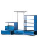 USM Haller E Garderobe XL mit Beleuchtung, Enzianblau RAL 5010