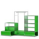 USM Haller E Garderobe XL mit Beleuchtung, USM grün