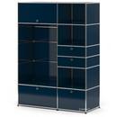 USM Haller Garderobenschrank Typ I, Stahlblau RAL 5011