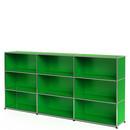 USM Haller Highboard XL, individualisierbar, USM grün, Offen, Offen, Offen