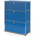 USM Haller Kommode mit 3 Schubladen, H 95 + 4 x B 75 x T 35 cm, Enzianblau RAL 5010