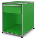 USM Haller Nachttisch mit Schublade, USM grün, Groß (H 54 x B 42,5 x T 53 cm)