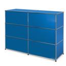 USM Haller Theke Typ 1, Enzianblau RAL 5010, 150 cm (2 Elemente), 50 cm